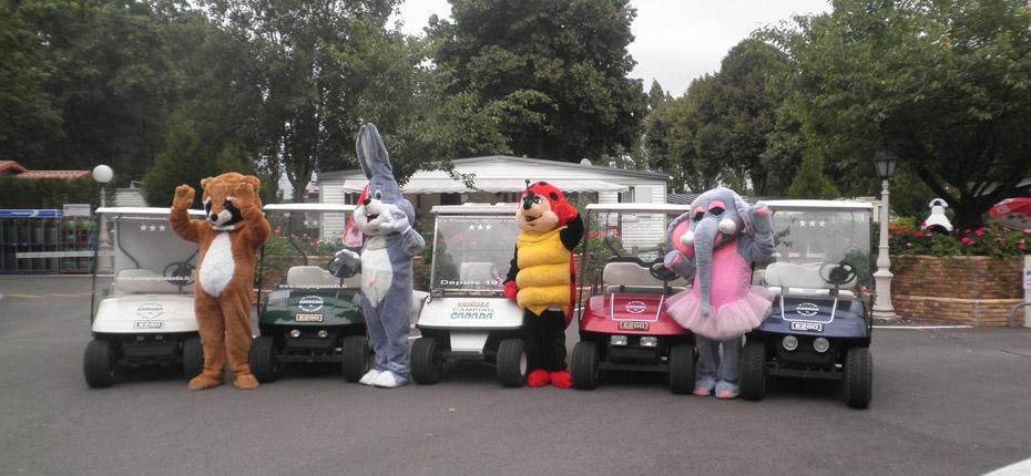 Les mascottes du camping près de Paris