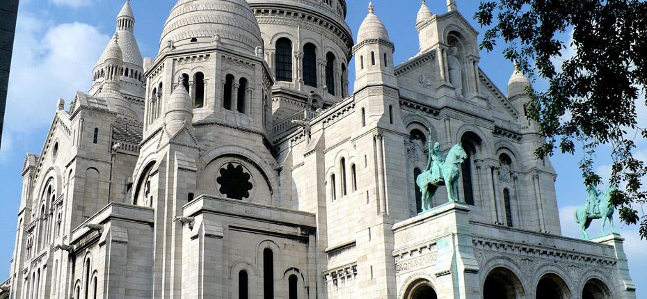 La basilique Montmartre en région parisienne