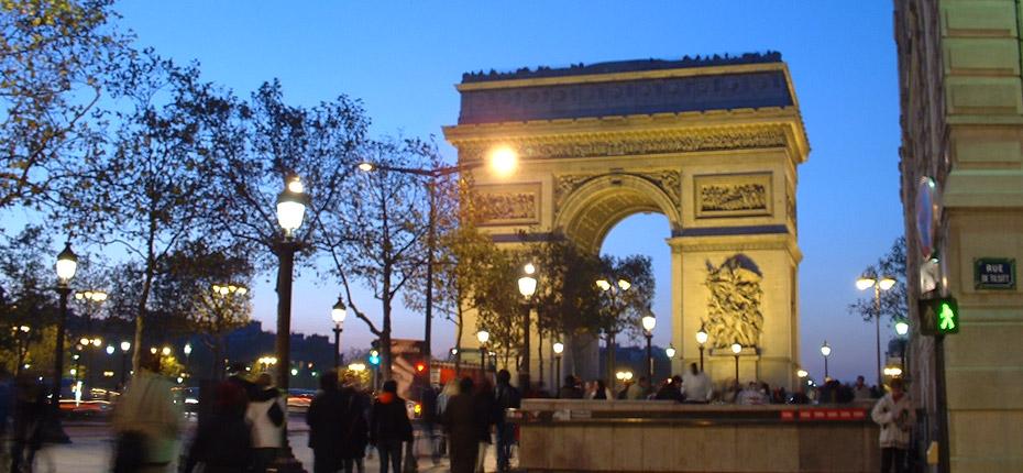 L'arc de Triomphe à 45 kms de Paris